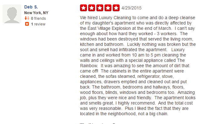 luxury cleaning services nyc reviews on Yelp #2