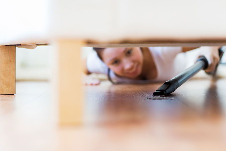 Clean Behind the Couches and Under the Bed Tip by cleaning service Manhattan - Luxury Cleaning NY