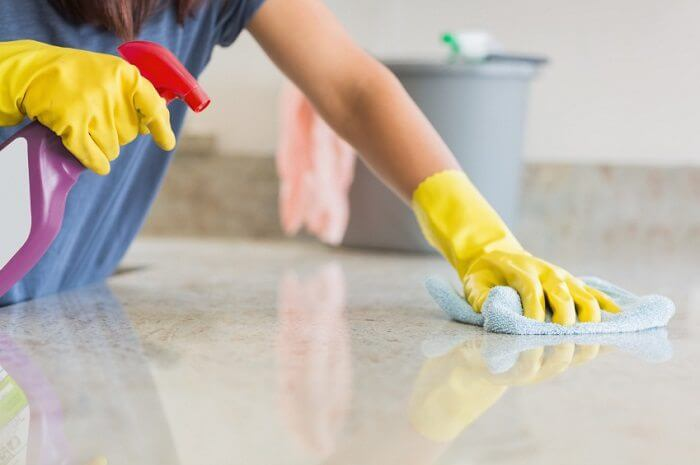 Wipe Down All Counters Tip by cleaning service Manhattan - Luxury Cleaning NY