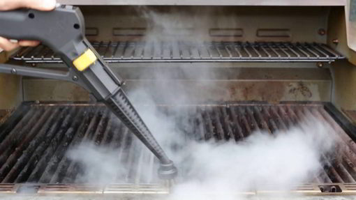 cleaning kitchen by steam cleaning machine in New York City