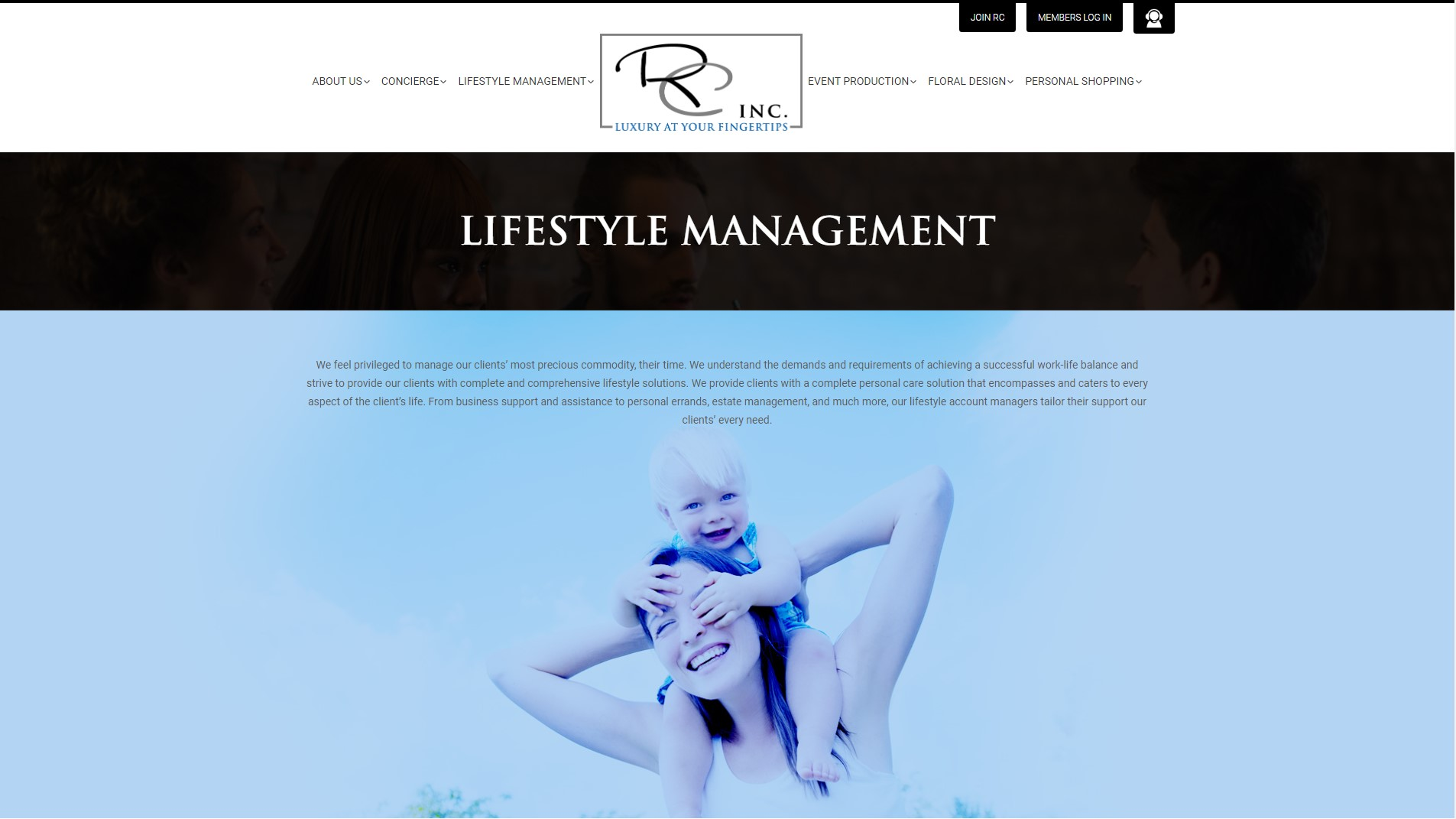 lifestyle management NYC Rinc
