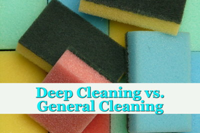The difference between house cleaning vs deep cleaning